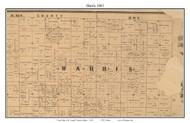 Harris, Indiana 1863 Old Town Map Custom Print - St. Joseph Co.