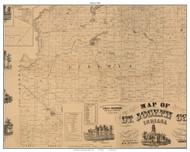 Liberty, Indiana 1863 Old Town Map Custom Print - St. Joseph Co.