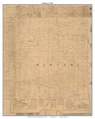 Madison, Indiana 1863 Old Town Map Custom Print - St. Joseph Co.
