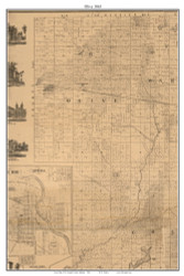 Olive, Indiana 1863 Old Town Map Custom Print - St. Joseph Co.