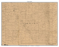 Union, Indiana 1863 Old Town Map Custom Print - St. Joseph Co.