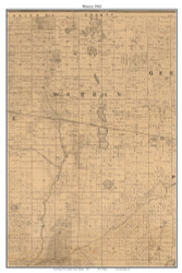 Warren, Indiana 1863 Old Town Map Custom Print - St. Joseph Co.