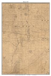 Warren, Indiana 1863 Old Town Map Custom Print - St. Joseph Co.