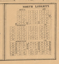 North Liberty, Indiana 1863 Old Town Map Custom Print - St. Joseph Co.
