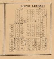 North Liberty, Indiana 1863 Old Town Map Custom Print - St. Joseph Co.