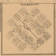 Walkerton, Indiana 1863 Old Town Map Custom Print - St. Joseph Co.