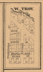 West Troy, Indiana 1863 Old Town Map Custom Print - St. Joseph Co.