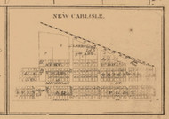 New Carlisle, Indiana 1863 Old Town Map Custom Print - St. Joseph Co.