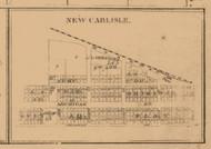 New Carlisle, Indiana 1863 Old Town Map Custom Print - St. Joseph Co.