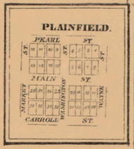 Plainfield, Indiana 1863 Old Town Map Custom Print - St. Joseph Co.