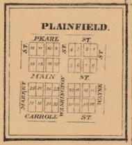 Plainfield, Indiana 1863 Old Town Map Custom Print - St. Joseph Co.