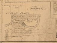 Mishawaka, Indiana 1863 Old Town Map Custom Print - St. Joseph Co.