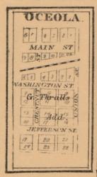 Oceola, Indiana 1863 Old Town Map Custom Print - St. Joseph Co.