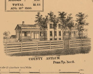 County Asylum, Indiana 1863 Old Town Map Custom Print - St. Joseph Co.