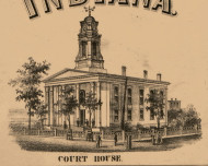 Court House, Indiana 1863 Old Town Map Custom Print - St. Joseph Co.