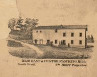 Merchant & Custom Flouring Mill, Indiana 1863 Old Town Map Custom Print - St. Joseph Co.