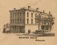 Milburn House, Indiana 1863 Old Town Map Custom Print - St. Joseph Co.