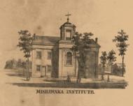 Mishawaka Institute, Indiana 1863 Old Town Map Custom Print - St. Joseph Co.