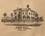 School House, Indiana 1863 Old Town Map Custom Print - St. Joseph Co.