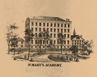 St. Mary's Academy, Indiana 1863 Old Town Map Custom Print - St. Joseph Co.