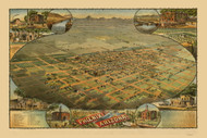 Phoenix, Arizona 1885 Bird's Eye View