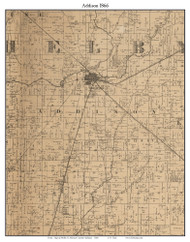 Addison, Indiana 1866 Old Town Map Custom Print - Shelby Co.