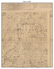 Hanover, Indiana 1866 Old Town Map Custom Print - Shelby Co.