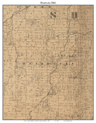 Hendricks, Indiana 1866 Old Town Map Custom Print - Shelby Co.