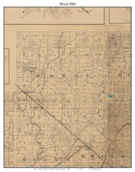 Moral, Indiana 1866 Old Town Map Custom Print - Shelby Co.
