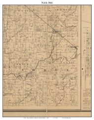 Noble, Indiana 1866 Old Town Map Custom Print - Shelby Co.