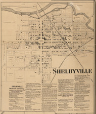 Shelbyville, Addison, Indiana 1866 Old Town Map Custom Print - Shelby Co.