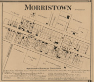 Morristown, Hanover, Indiana 1866 Old Town Map Custom Print - Shelby Co.