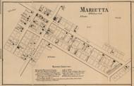 Marietta, Hendricks, Indiana 1866 Old Town Map Custom Print - Shelby Co.