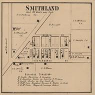 Smithland, Hendricks, Indiana 1866 Old Town Map Custom Print - Shelby Co.