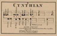 Cynthian, Liberty, Indiana 1866 Old Town Map Custom Print - Shelby Co.