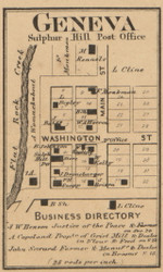 Geneva, Noble, Indiana 1866 Old Town Map Custom Print - Shelby Co.