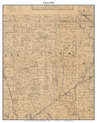 Clark, Indiana 1866 Old Town Map Custom Print - Johnson Co.