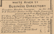 Business Directory, White River, Indiana 1866 Old Town Map Custom Print - Johnson Co.