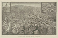 Deadwood, South Dakota 1884 Bird's Eye View