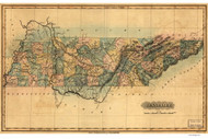 Tennessee 1826 Lucas - Old State Map Reprint
