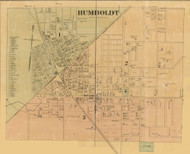 Humboldt Village, District 3, Tennessee 1877 Old Town Map Custom Print Gibson Co.