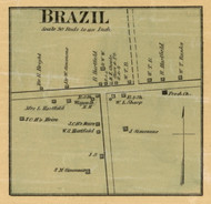Brazil Village, District 5, Tennessee 1877 Old Town Map Custom Print Gibson Co.