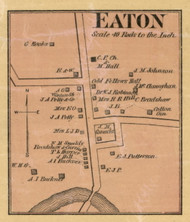Eaton Village, District 6, Tennessee 1877 Old Town Map Custom Print Gibson Co.
