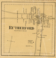 Rutherford Village, District 9, Tennessee 1877 Old Town Map Custom Print Gibson Co.