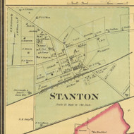 Stanton Village, District 3, Tennessee 1877 Old Town Map Custom Print Haywood Co.
