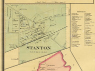 Stanton Village Business Directory, District 3, Tennessee 1877 Old Town Map Custom Print Haywood Co.