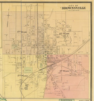Brownsville, District 7, Tennessee 1877 Old Town Map Custom Print Haywood Co.