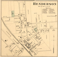 Henderson Village, District 1, Tennessee 1877 Old Town Map Custom Print Madison Co.