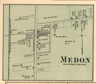 Medon Village, District 2, Tennessee 1877 Old Town Map Custom Print Madison Co.