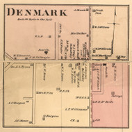Denmark Village, District 4, Tennessee 1877 Old Town Map Custom Print Madison Co.